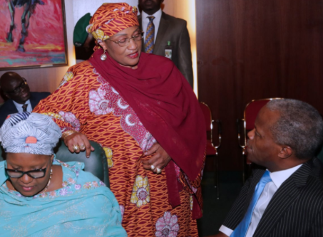 Photos of Aisha Alhassan at the Federal Executive Council meeting