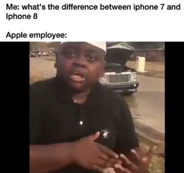 An Apple employee explains the difference bewteen iphone 7 and the newly released iphone 8