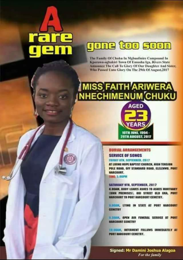 23-year-old lady shot dead on her way to Abuja to renew her UK visa, laid to rest