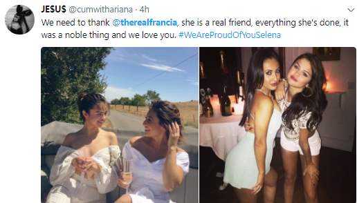 Selena Gomez fans storm social media accounts of the friend who donated her kidney to thank her