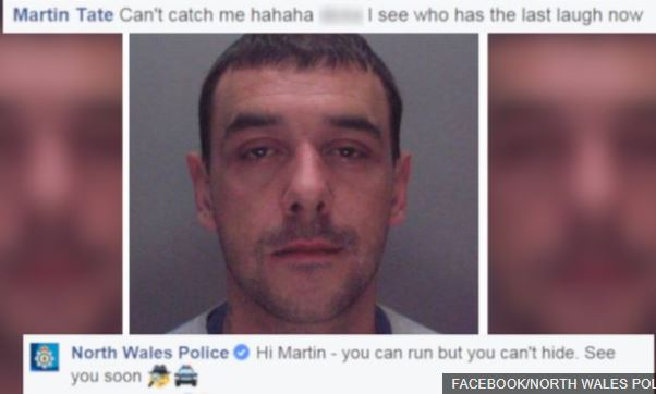 'You can't catch me hahaha' - Wanted man taunts Police on their Facebook page & they replied too