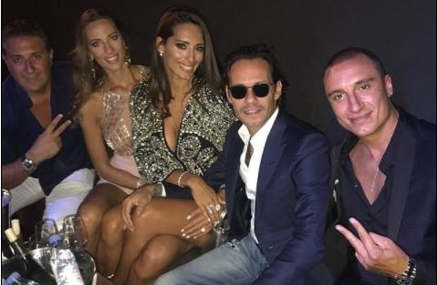 Photo: Marc Anthony celebrates his birthday with new girlfriend at his ex-Jennifer Lopez's concert