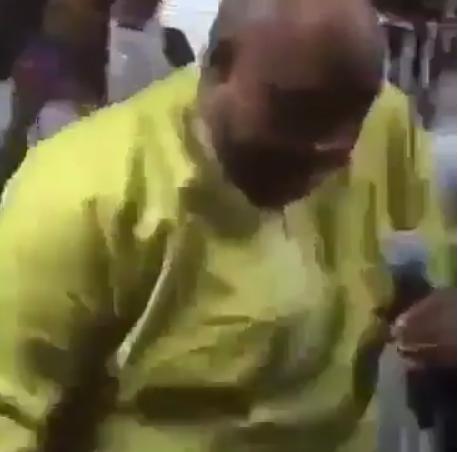 Video: Davido's uncle, Senator Adeleke is back as a one man band, singing and dancing at a church thanksgiving