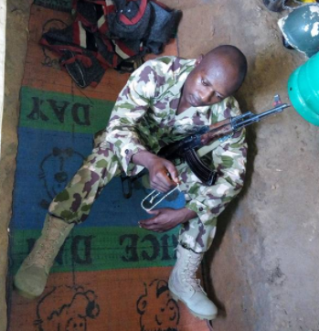 Soldier fighting Boko Haram shares photos of the grave where he sleeps