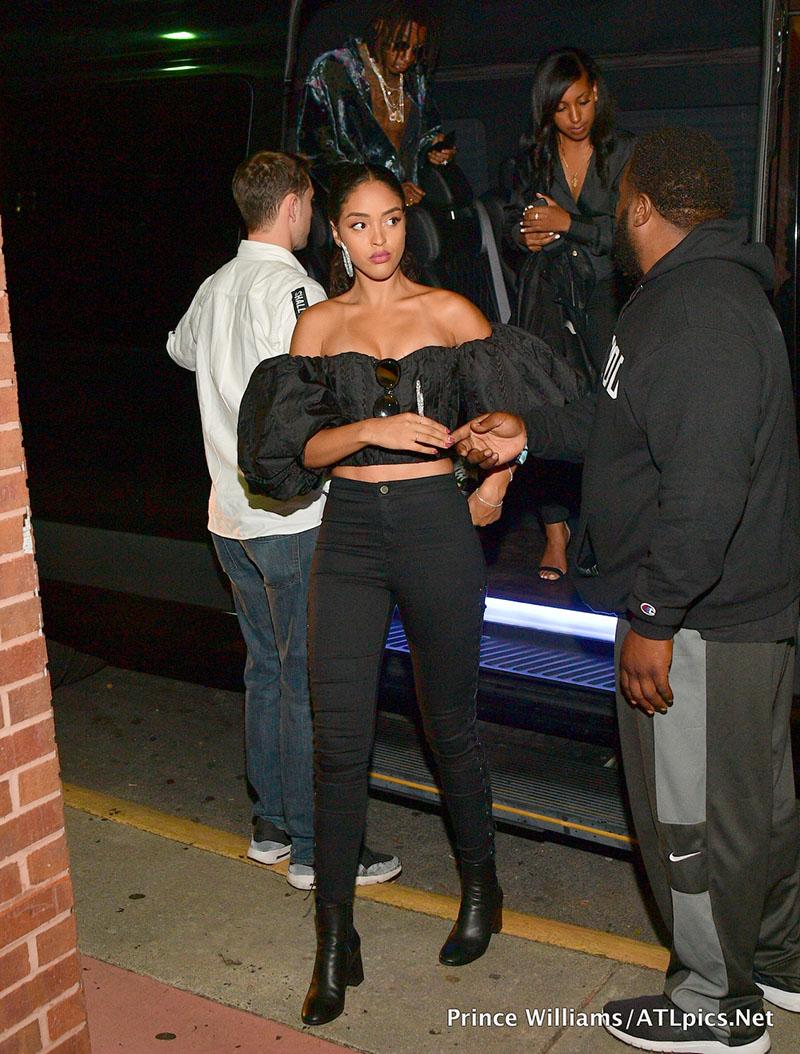Photos Wiz Khalifa Parties Hard With His Stunning Girlfriend