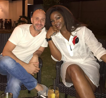 Actress Genevieve Nnaji Shared New Photo Of Herself  With A White Guy And Her Fans Are Already Calling Him Their Inlaw.