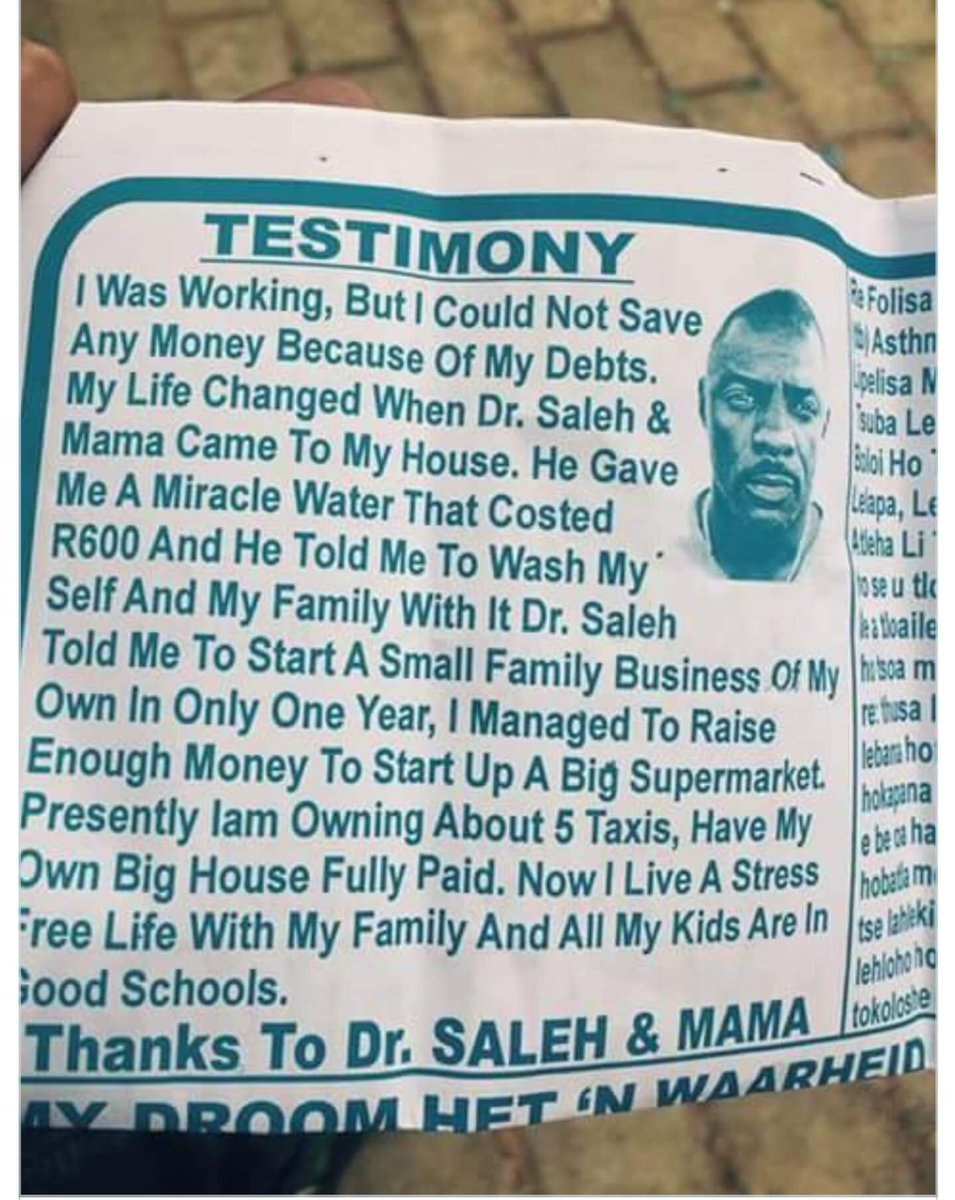 Church In South Africa Use Actor Idris Elba's Photo On Testimony Pamphlet