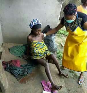 The mentally -challeged woman who delivered baby on the street of Sapele has died