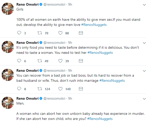 """""""A woman who willingly offers herself to a married man knowing fully well that he is married is a woman that has the capacity to kill""""- Reno Omokri"""