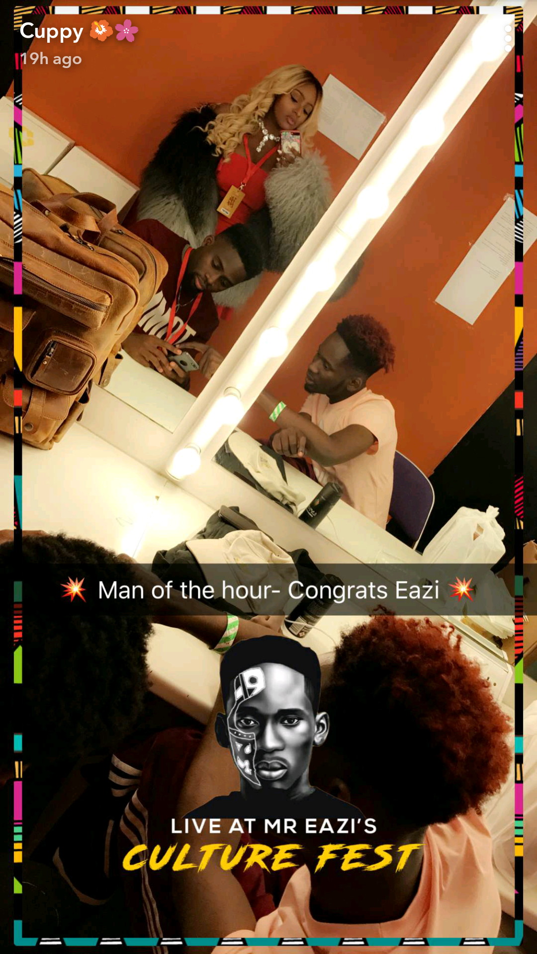 Temi Otedola, her sisters and mother attend Mr Eazi