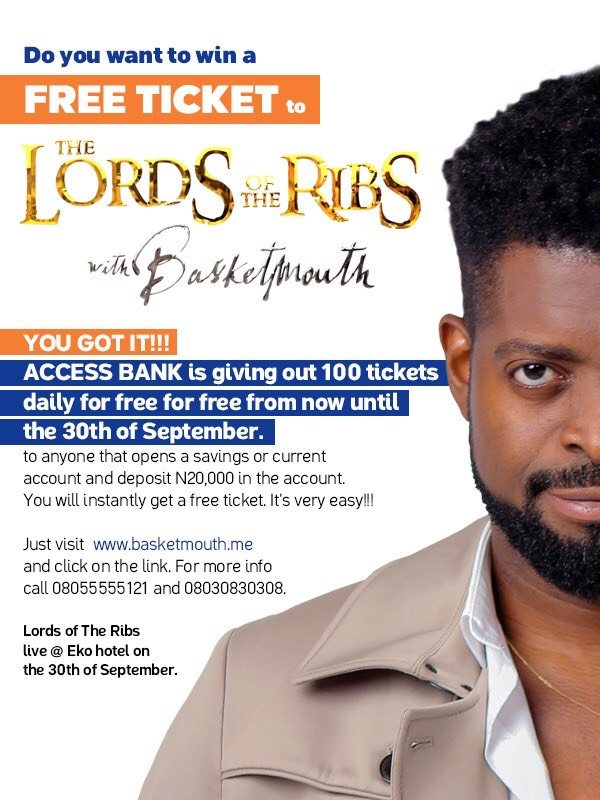 Do you want to win free tickets to Lords of The Ribs with Basketmouth?