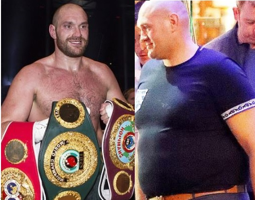 Tyson Fury who wants a boxing match with Anthony Joshua unrecognizable in new photos