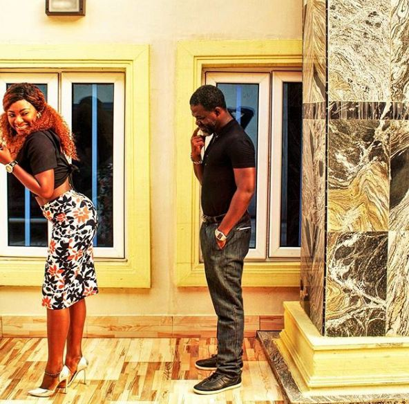 Yvonne Jegede and her husband, Abounce check each other out in new photos