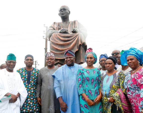 Photo: Dolapo Osinbajo present as Ambode unveils Obafemi Awolowo