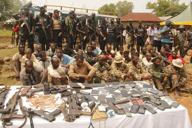 Photos: Police parade 31 vicious and notorious kidnap, armed robbery gangs terrorizing Abuja-Minna-Kaduna Highways