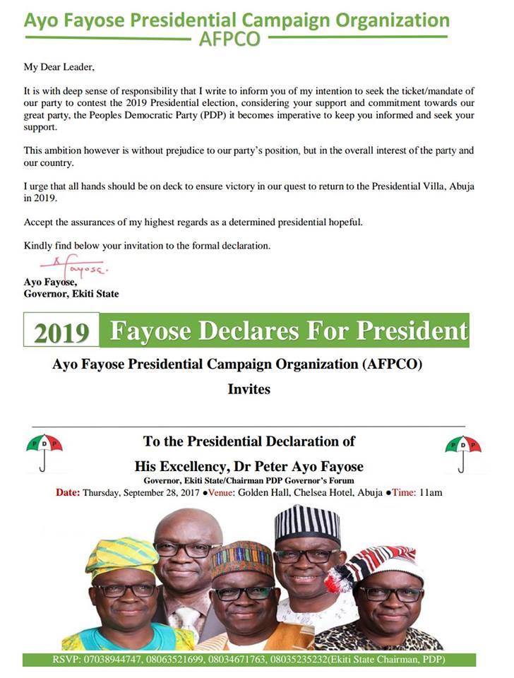I?m next president of Nigeria- Ekiti state governor, Ayo Fayose says