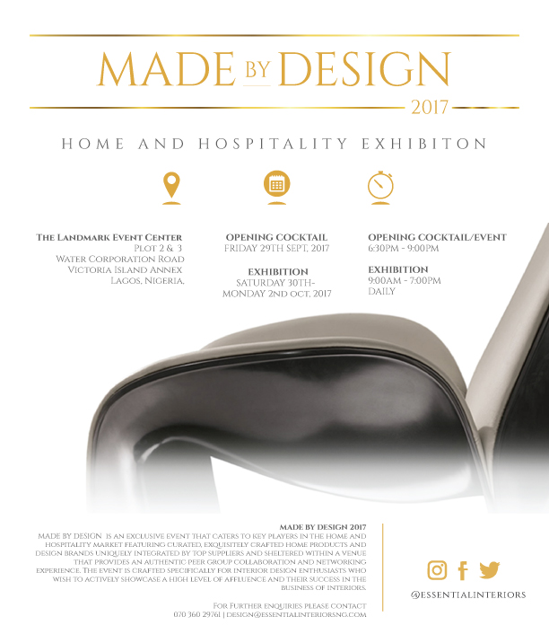 Africas Biggest Interior Design Event Is Here Youre Invited To Made By 2017