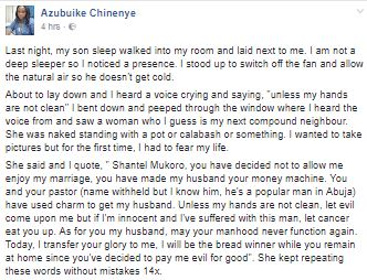 Lady narrates how a heartbroken woman stripped naked to curse her husband and his side-chick