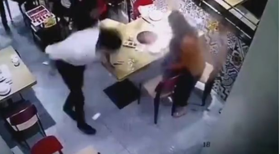 Waiter slips and drops pot of hot soup on little boy, leaving him screaming in agony (video)