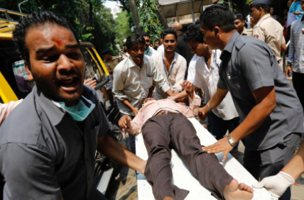 Stampede at a train station kills 22 people in India