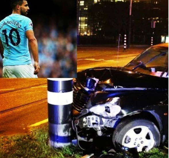 Manchester City striker,?Sergio Aguero involved in car crash
