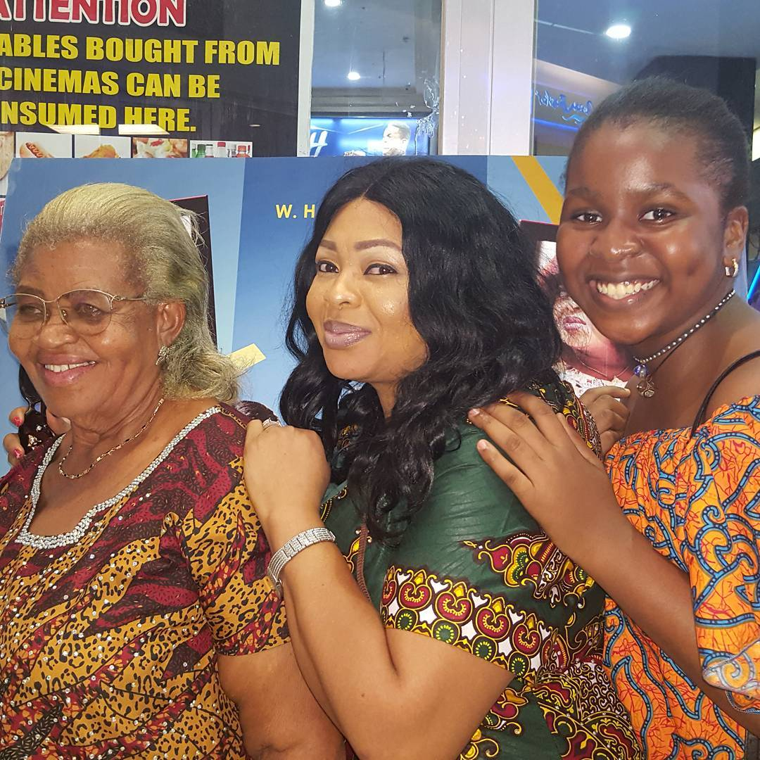 Three generations: Actress Jennifer Eliogu shares lovely photo of herself with mum and daughter