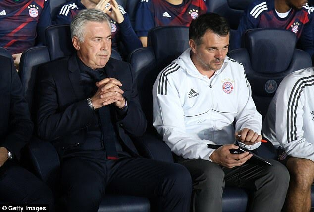 David Beckham has some words for Carlo Ancelotti after his shock sack by Bayern Munich