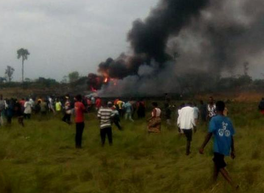 12 people die as Military plane crashes in Congo