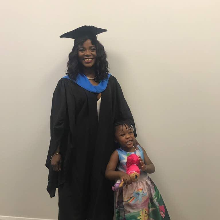 Seun Kuti celebrates his partner, Yetunde as she graduates from College