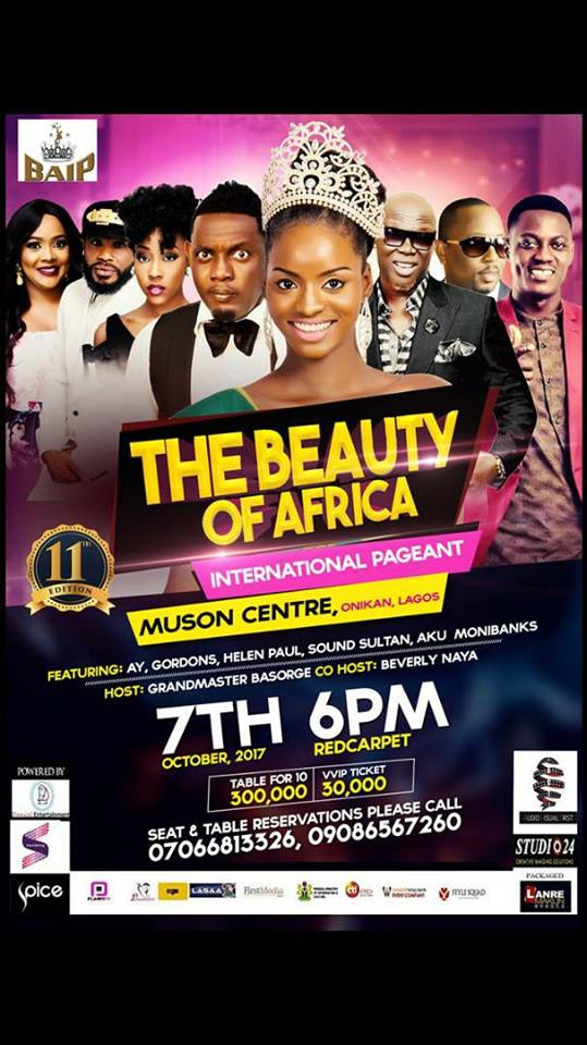 Lagos, are you ready? Come And Witness the making of a Queen. 37 contestants, 5 winners, 1 stage, 1 crown