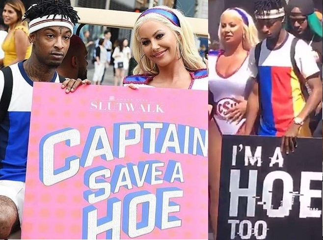 ?I?m a Hoe Too?- 21 Savage says as he supports Amber Rose at Slut Walk Festival (Photos)