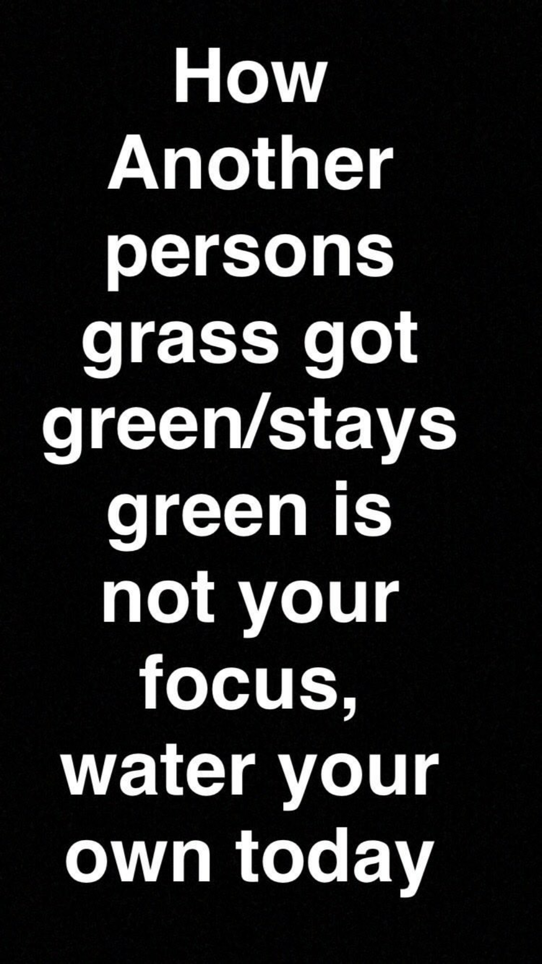 """""""How another persons grass got greener or stays green is not your business"""" Toke Makinwa"""