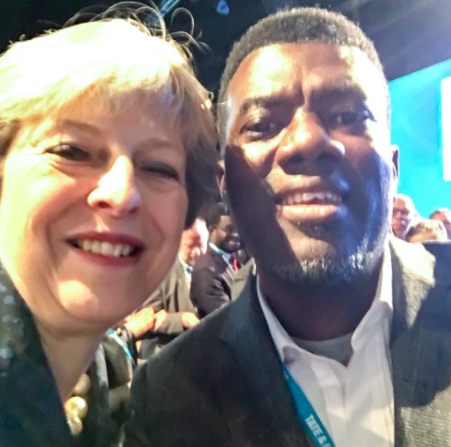 Photo: Reno Omokri meets?British Prime Minister, Theresa May