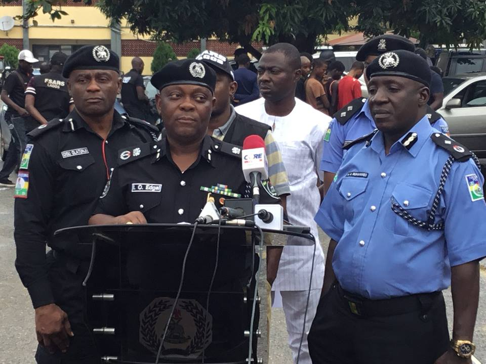 Photos: Lagos police arrest 10 robbery suspects, recovers 6 stolen cars