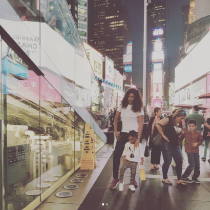 Photos: Flavour?s baby mama, Sandra Okagbue and their daughter, Gabrielle, holiday in New York