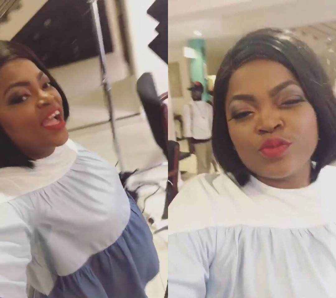 Lovely photos of actress, Funke Akindele-Bello rocking her baby bump