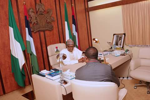 Photos: President Buhari receives Anambra state governor, Willie Obiano, at the state house