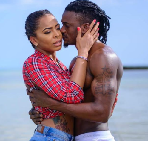Loved up photos of Tboss and singer, Ellyman on vacation in Zanzibar