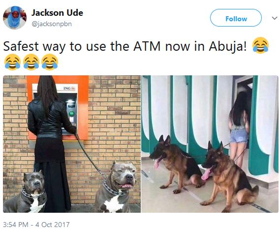 Safest way to use ATM...lol