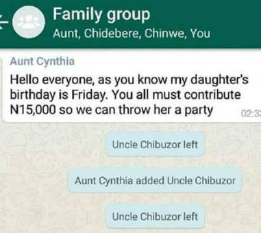 This family chat has got to be the most hilarious thing you will read today! Lmao!
