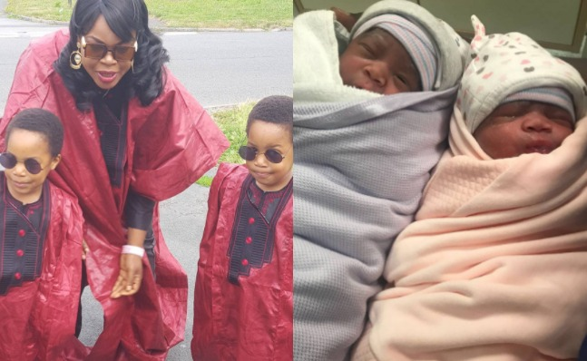 Actress Taiwo Aromokun, welcomes her second set of twins four years after welcoming her first set
