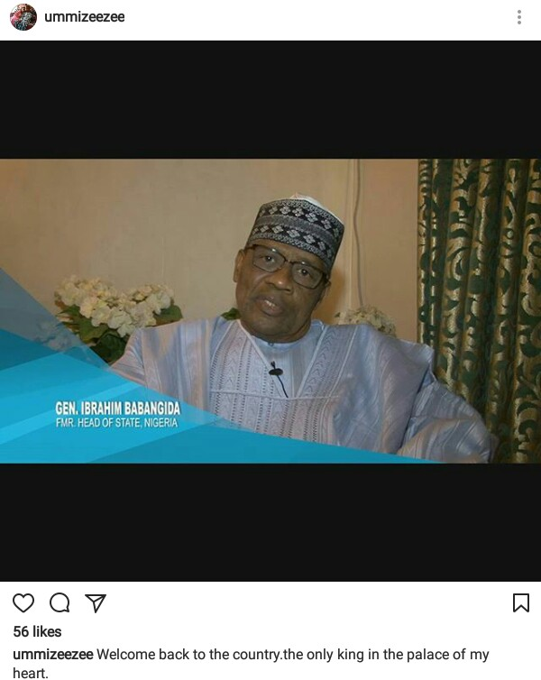 """Hausa actress, Ummi Ibrahim Zeezee describes ex-military president, Ibrahim Babangida, as """"the only king in the palace of her heart"""""""