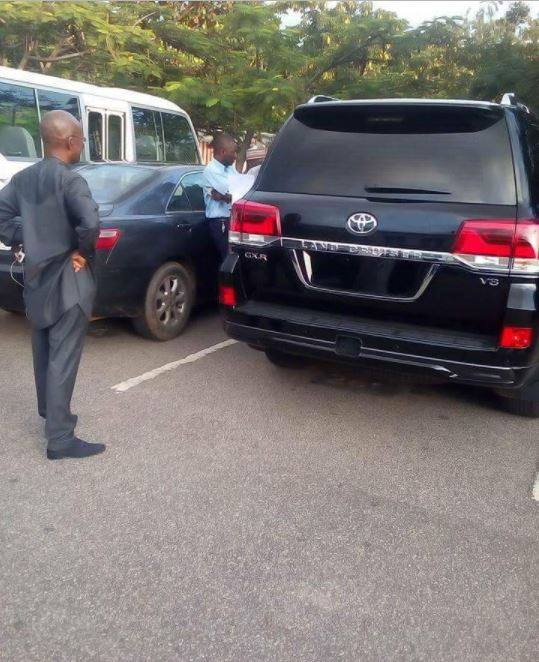 Photos: Newly sworn in Senator Andrew Uchendu, receives his official car from the Senate