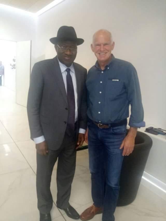 Goodluck Jonathan meets former Prime Minister of Greece