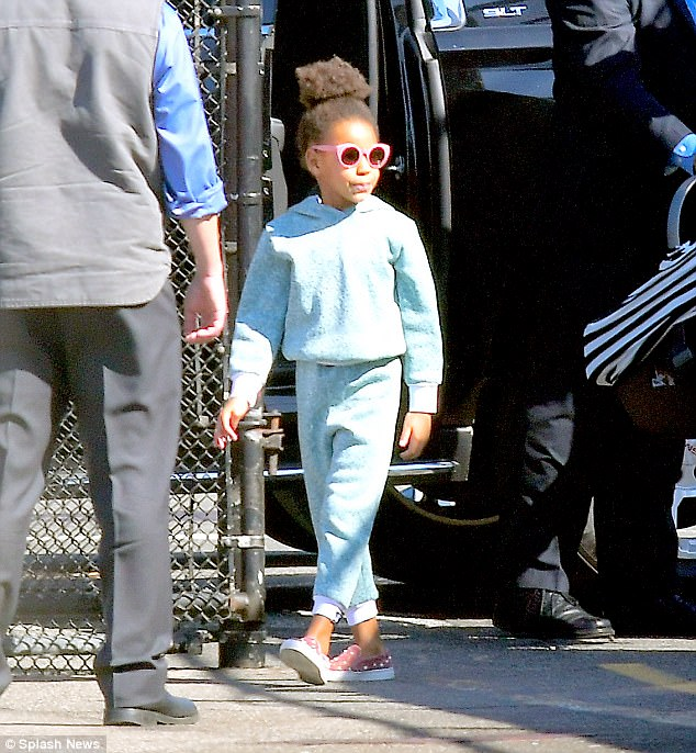 Beyonce, Jay Z and Blue Ivy pictured for the first time with baby twins Rumi and Siras ?in New York (Photos)