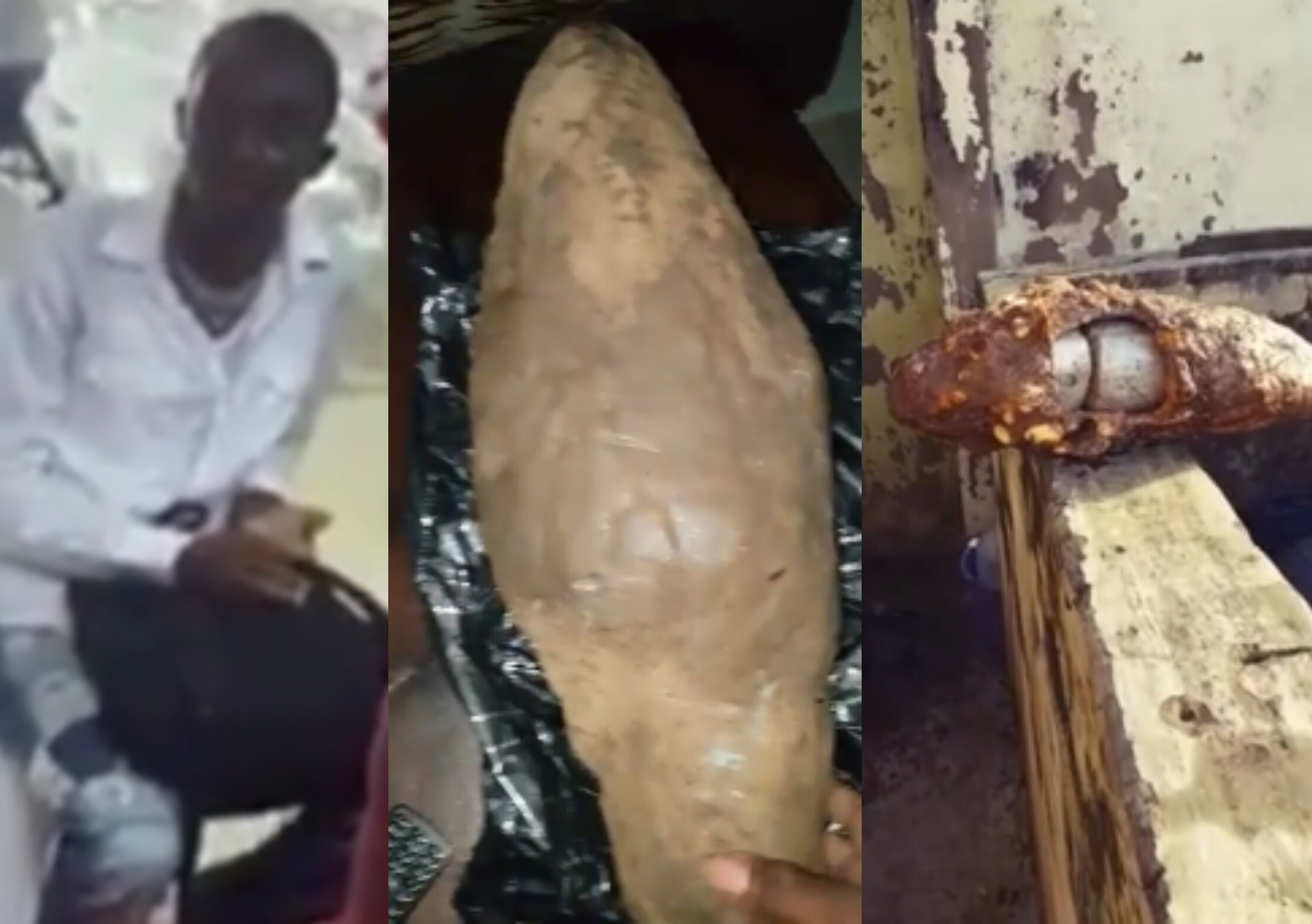 Video: Man who hid hard drugs inside a yam tuber for another man to deliver abroad has been revealed