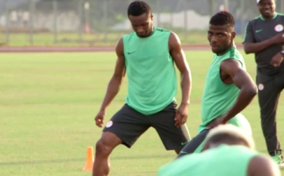 Photos of Super Eagles training ahead of their match with Zambia on Saturday