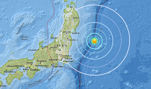 Magnitude 6.3 earthquake strikes off the east of Japan