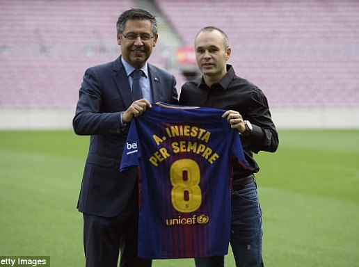 Life Contract deal: Football legend Andres Iniesta signs lifetime contract with Barcelona