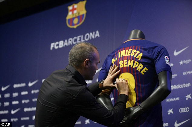 Barca for life! Football legend Andres Iniesta signs lifetime contract with Barcelona?